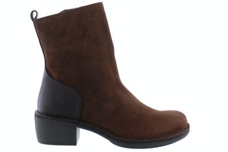 Fly London Moba 032 camel dark brown Damesschoenen Enkellaarsjes
