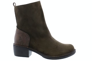 Fly London Moba 032 sludge olive Damesschoenen Enkellaarsjes