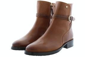 Fred de la Bretonniere 181010062 brown Damesschoenen Enkellaarsjes