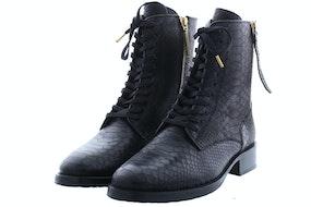 Fred de la Bretonniere 184010030 black croco Damesschoenen Booties