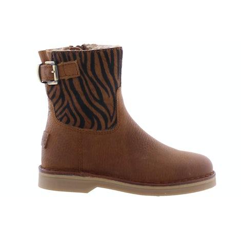 Giga 3557 zebra cognac Booties en laarzen Booties en laarzen