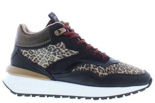 Giga G3846 black leopard cr Meisjesschoenen Sneakers