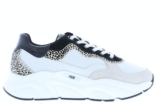 HUB Rock off white cheeta Damesschoenen Sneakers