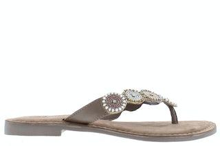 Lazamani 75.451 beige Damesschoenen Slippers