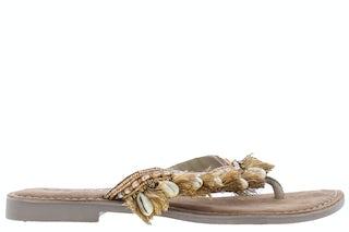Lazamani 75.674 beige Damesschoenen Slippers