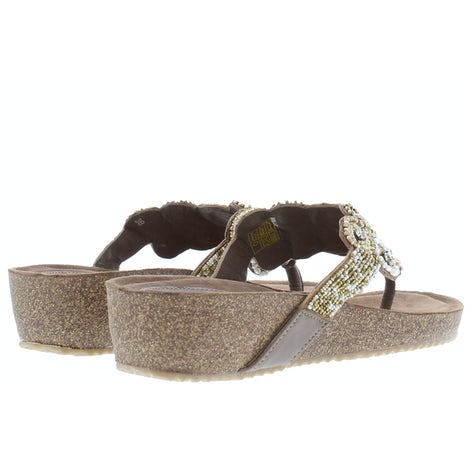 Lazamani 75.722 taupe Slippers Slippers
