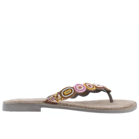 Lazamani 75.768 taupe Slippers Slippers