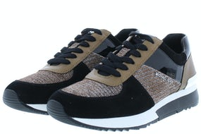 Michael Kors Allie trainer black bronze Damesschoenen Sneakers
