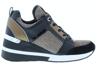 Michael Kors Georgie trainer black bronze Damesschoenen Sneakers