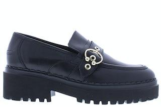Nubikk Fae Gatsby black leather Damesschoenen Instapschoenen