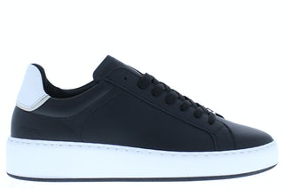 Nubikk Jiro banks black leather white Damesschoenen Sneakers