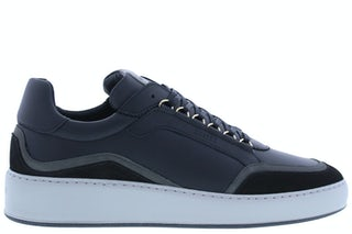 Nubikk Jiro jones black leather multi Herenschoenen Sneakers