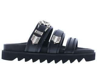 Nubikk Lauren taro II black leather Damesschoenen Slippers