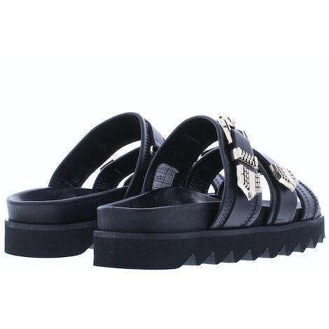 Nubikk Lauren taro II black leather Slippers Slippers