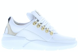 Nubikk Roque royal white leather go Damesschoenen Sneakers