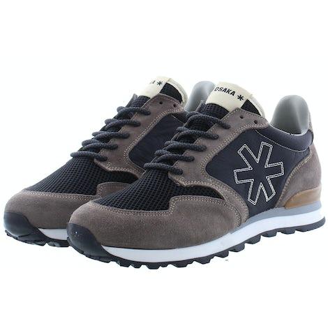 Osaka Retro runner 10010 grey/blk Sneakers Sneakers