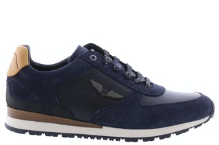 PME Legend Lockplate 599 navy jeans Herenschoenen Sneakers