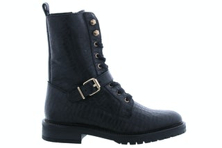 PS Poelman Dungaball 13 black croco Damesschoenen Booties