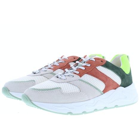 PS Poelman Minion-01 white green Sneakers Sneakers