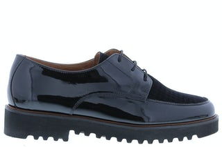 Paul Green 2615 017 black Damesschoenen Veterschoenen