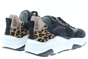 Philippe Mod Eze leo glitter noir Damesschoenen Sneakers