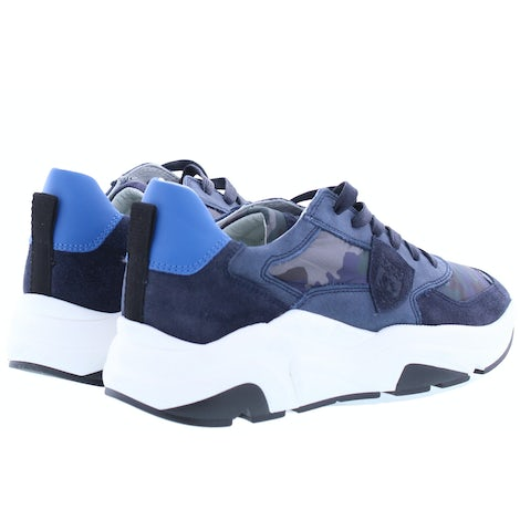 Philippe Model Eze camouflage bleu Sneakers Sneakers
