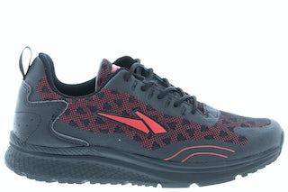 Piedro 1517002610 9865 zwart rood Jongensschoenen Sneakers