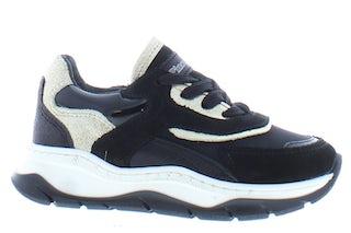 Pinocchio P1551 black leo Meisjesschoenen Sneakers