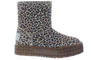 Pinocchio P2458 beige leopard Meisjesschoenen Booties en laarzen
