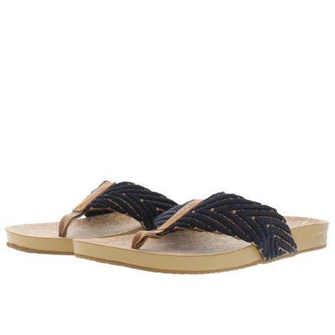Reef Cushion strand black natural CI3773 Slippers Slippers