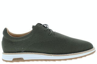 Rehab Nolan knit dark green Herenschoenen Veterschoenen