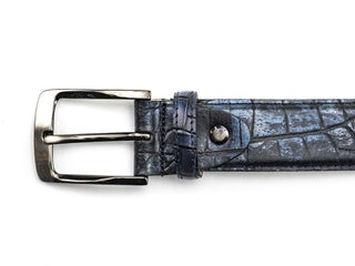 Rehab belt croco met 420 dark blue 092310002