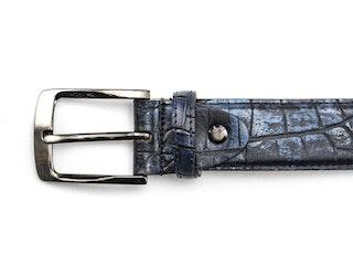 Rehab belt croco met 420 dark blue 092310002