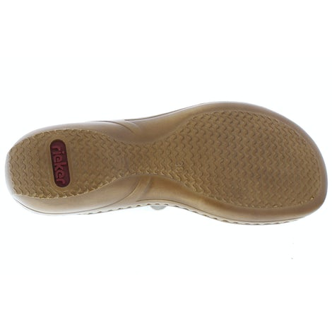 Rieker 608P9-80 WEIS-SILBER Slippers Slippers