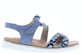 Rieker V5069-12 Blue/Jeans Damesschoenen Sandalen