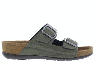 Rohde 5856/61 Olive Damesschoenen Slippers