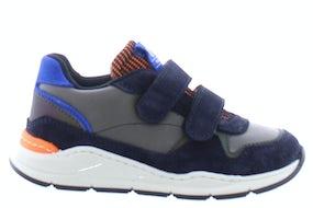 Romagnoli 6281 blue grigio Jongensschoenen Klittebandschoenen