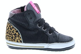 ShoesMe BP20S002-D black Meisjesschoenen Veterschoenen