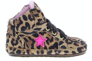 ShoesMe BP20S026-J leopardo Meisjesschoenen Veterschoenen