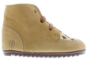 ShoesMe BP21W023-G camel pony leopa Meisjesschoenen Booties