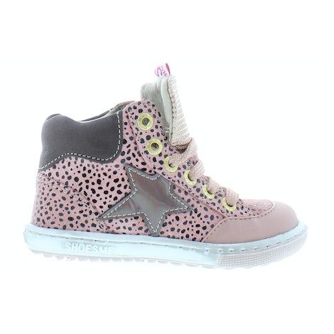 ShoesMe EF21W042-C pink black dots Booties Booties