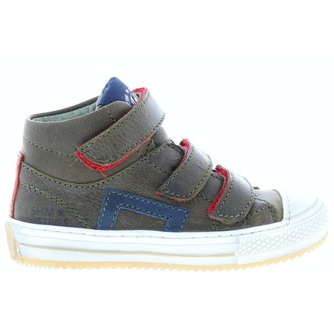 ShoesMe OM9W074-E army green Klittebandschoenen Klittebandschoenen