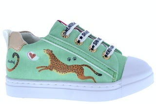 ShoesMe SH21S002-E green cheetah Meisjesschoenen Sneakers