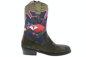 ShoesMe WT20W112-A green Meisjesschoenen Booties en laarzen