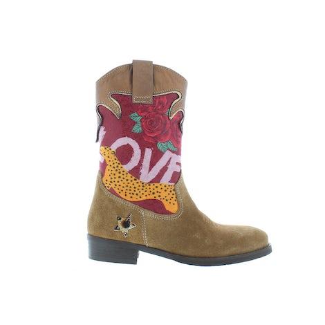 ShoesMe WT21W112-B cognac leopard Booties en laarzen Booties en laarzen