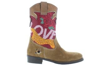 ShoesMe WT21W112-B cognac leopard Meisjesschoenen Booties en laarzen