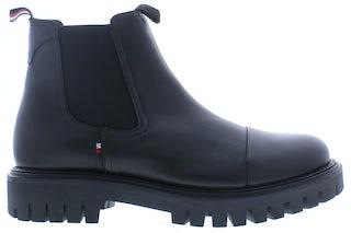 Tommy Hilfiger Chunky dress toecap chelsea BDS black Herenschoenen Boots