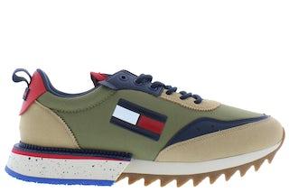 Tommy Hilfiger Cleated TJM runner mix RBL classic khak Herenschoenen Sneakers