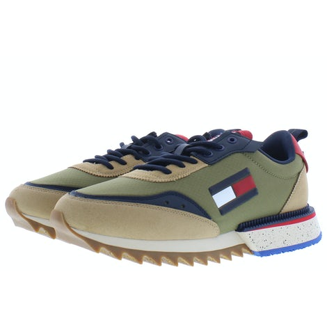 Tommy Hilfiger Cleated TJM runner mix RBL classic khak Sneakers Sneakers