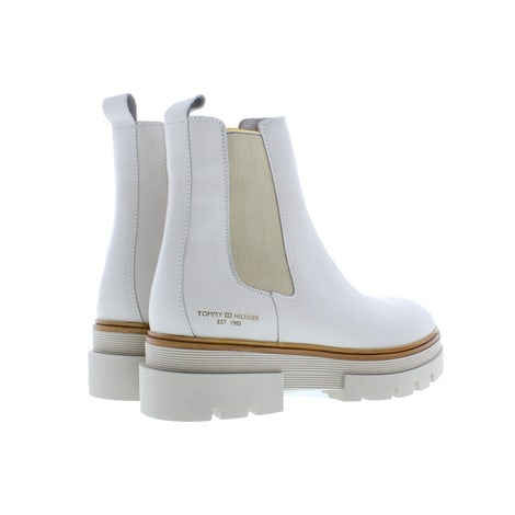 Tommy Hilfiger Monochromatic chelsea boot AF2 white dove Booties Booties